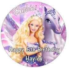 """Barbie Cake Topper Personalised  Edible Wafer Paper 7.5"""""""