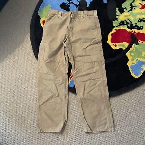 Carhartt Beige Carpenter Trousers Beige W33 L33