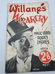 Willane's Wizardry 1947 Magic Stunts Tricks Catches