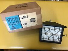 Vintage STARLIGHT by THOMAS INDUSTRIES Model SL310-7 Wall Sconce Black NOS