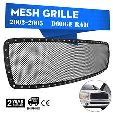 Mesh Grille Dodge Ram Front Upper Rivet 2002-2005 Stainless Steel 1500 Insert