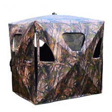 Ground Hunting Blind Portable Deer Elk Pop Up Box Tent Stand Weatherproof Window
