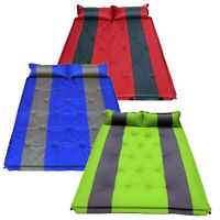 Portable Double Self Inflating Camping Camp Sleeping Mat Mattress Green Red Blue