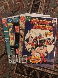 Wonder Woman Vol 1 1977 Lot of 5 DC Comics #228 249 274 275 302 Red Panzer