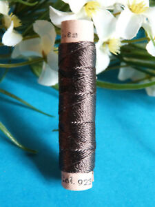 363B / Beautiful Coil Pure Wire Silk Drawstring Zwicky Flora Brown N° 923