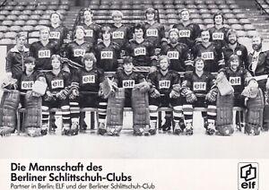 Berliner Schlittschuh-Club - Mannschaftskarte  - ansehen  -  !