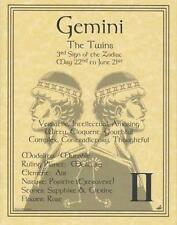 Gemini (Zodiac) Parchment Page Book of Shadows, Altar!
