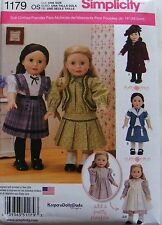 AMERICAN GIRL 18 DOLL CLOTHES PATTERN SAMANTHA KIRSTEN MOLLY HISTORICAL NEW