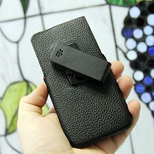 New for Blackberry Z30 Leather Swivel Holster Pouch Sleeve Case Retail Black