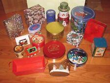 Christmas Tins Lot 18 Gifting Decorative Storage Nesting Advertising M&M Nestle