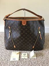 Authentic Louis Vuitton Delightful GM Monogram Canvas Handbag Shoulder Hobo