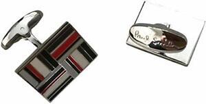 Paul Smith Verpackt Manschettenknöpfe Flagge Symbol IN Farben Weiß Rot Schwarz