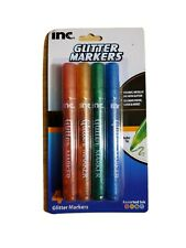 INC GLITTER MARKERS bullet tip pack of 4. New free shipping