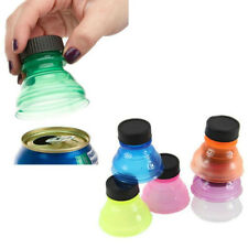 6Pcs Reusable Soda Can Cap Drink Bottle Top Lid Caps Protector Snap On