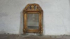 Antique French Bridal Mirror French Gilt Mirror Gilded Wood Crest Mirror