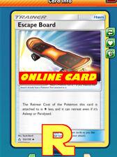 2x Escape Board - for Pokemon TCG Online ( DIGITAL ptcgo in Game Card)
