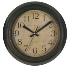 Wall Clock Large Round Vintage Antique Primitive Farmhouse Rustic Home Decor