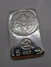 More details for 5 ozt premium hand poured silver 999 fine hayleybug mint pirate round