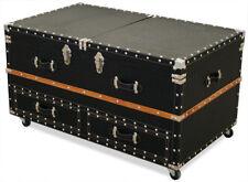 KMH® Couchtisch 59 x 99 schwarz Bartisch Truhentisch Kofferbar Barschrank Tisch