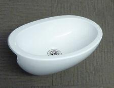 Swift Caravan Motorhome Bathroom White Plastic Oval Vanity Sink SN2