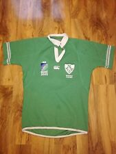 IRELAND 2003 WORLD CUP  MATCH WORN RUGBY SHIRT /JERSEY/MAILLOT- RARE- LOOK!!
