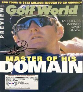 "David Duval Signed ""Golf World"" Magazine PSA AH37879"