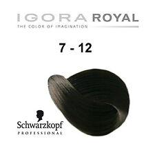 SCHWARZKOPF IGORA ROYAL HAIR COLOR 7-12 MEDIUM BLONDE CENDRE ASH 60g
