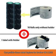 10+1 Blumax Shipping Label Replace Brother DK11202/DK-11202-62x100mm QL500/550