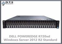 DELL POWEREDGE R720xd 2x E5-2660 H710 48Gb WINDOWS SERVER 2012 R2 STANDARD SSDs