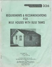 Requirements & Recommendations For Milk Houses With Bulk Tanks, 1959
