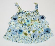 "Gymboree ""Malibu Cowgirl"" Cornflower Floral Tiered Ruffled Swing Top, 12-18 mos."