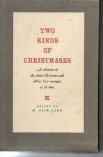 Two Kinds of Christmases Book in Box H. Jack Lang Christmas & New Year Messages