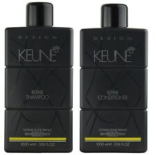 Keune Litre LT Design Repair 1l Shampoo 1l Conditioner With Organic Argan Oil