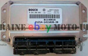 🔝 Steuergerät LADA NIVA 21214-1411020-20 Euro 3 Bosch Control Unit  🛒✈🌎😊