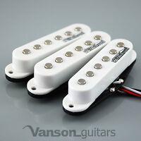 NEW Set of Wilkinson HOT Single Coil Pickups for Strat®* guitars, WHITE MWHS