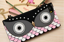 New Owl Silicone Handbag Purse case Cross Over Gold Chain Straps For iPhone 5 5S