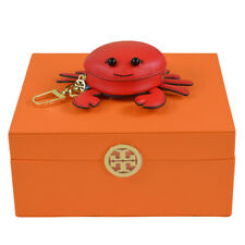 TORY BURCH CARL THE CRAB Pouch Key Fob Coin Purse with Jewelry Storage Box