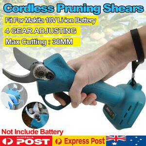30mm Cordless Brushless Electric Pruning Shears Secateur For Makita 18V Battery