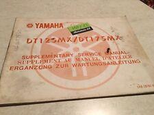 Yamaha DTMX 125 175 DTMX 2A8 2K4 supplement revue moto technique manuel atelier