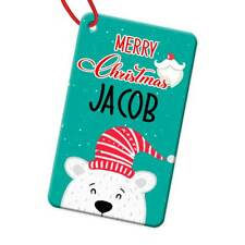 Personalised Any Name Rectangle Christmas Bauble Tree Decoration Gift 112