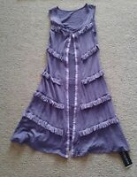New NWT Metalicus purple tank dress or long vest one size will fit size 8 - 14