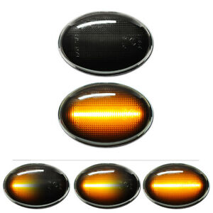 SCHWARZE dynamische LED Seitenblinker Mini Cooper S One JCW R55 R56 R57 R58 R59