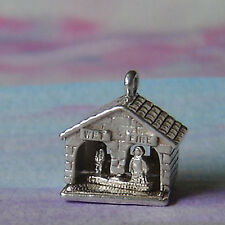 VINTAGE NUVO STERLING SILVER WEATHER HOUSE CHARM