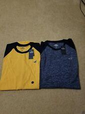 NWT Hollister Curved Hem  T-Shirt  Long Sleeve 5 Colors M,L or XL