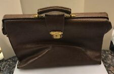 Tivoli Brown Pebbled Leather Soft Sided Briefcase Bag Professional Doctor