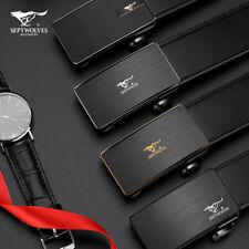 Mens Dress Belt Genuine Septwolves Real Leather Fashion Black/Brown Auto Lock
