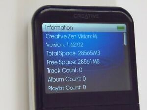 Creative ZEN Vision M 30 GB Digital Media Player DVP-HD0003 Color Choose