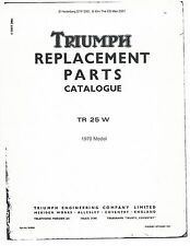 Triumph Parts Manual Book 1970 Trophy 250 TR 25 W