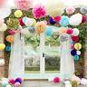 30 Wedding Party Hanging Tissue Paper Pom Pom Lantern Decoration Balls 4 Sizes K
