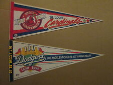MLB St.Louis Cardinals & Los Angeles Dodgers 100TH Anniversary Baseball Pennants